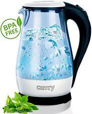 1,7 Liter,2000 Watt mit blauer LED Innenbeleuchtung Glas Wasserkocher, WEISS NEU