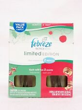 2 Febreze NOTICEables Scented Oil Refill HOLLY BERRIES & APPLE SPICE HOLIDAY