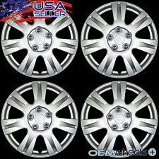 """4 NEW OEM SILVER 15"""" HUB CAPS FITS TOYOTA TRD ABS SPORT CENTER WHEEL COVERS SET"""