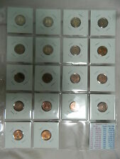 1967-1984 SINGAPORE 1 CENTS COIN SET HIGH RISE HDB  with the plastic holder