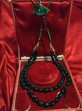 BEYOND LUXURY FINE NATURAL MINED EMERALD BEADS NECKLACE ZAMBIA UNTREATED