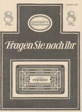Y6936 GARBATY Visconti Rasierklinge -  Pubblicità d'epoca - 1925 Old advertising