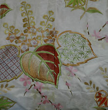 Japanese vintage Uchikake Synthetic fabric Hollyhock