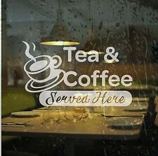 3 x Cafe Sticker Window Etch Effect Frosted Film Self adhesive Graphic Coffee