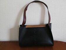 Marks and Spencer Autograph Black & Brown in pelle borsa a mano,