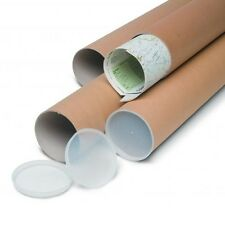 Tubo di cartone 100x7cm per spedizione disegni pellicola con tappi plastica pvc