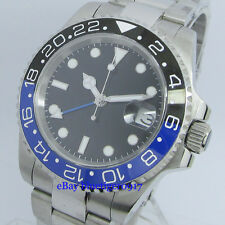 Sapphire Glass Parnis 40mm Ceramic Bezel Men's 2813 Movement GMT Automatic Watch
