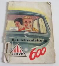 Betriebsanleitung Lloyd LP 600 Bedienungsanleitung Handbuch ohne Eintrag 1957!