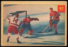 1954-55 PARKHURST HOCKEY #97 DUTCH REIBEL TESTS HABS RC JACQUES PLANTE CANADIENS