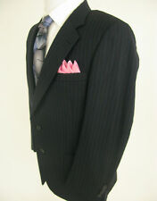 Burberrys Prorsum Dobys Wool Dark Gray Striped Blazer Jacket Sport Coat 41 R