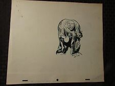 1960's SUB-MARINER TV Animation Cartoon Production Art LADY DORMA & Monster Sc82