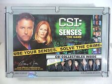 CSI Crime Scene Investigation Senses Board Game 2006 Complete Collectible Pawns