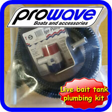 Live Bait Tank kit, Transom Mount, bottom draining