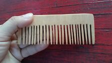 Thai Beard comb natural wood pocket comb beige rectangle shape anti static kid