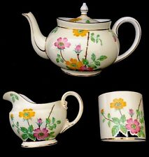Vintage Aynsley B 3957 Tea Set with Tea Pot, Creamer and Sugar Bowl