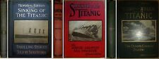 3 Volume Set of THE SINKING OF THE TITANIC Eyewitness Accounts 1st Editions 1912