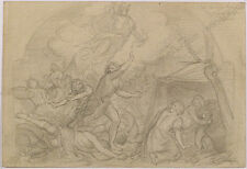 "Robert Scheffer (1859-1934) ""Biblical Scene"", Drawing, 1880s"