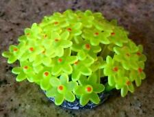 AQUARIUM NEON CORAL REEF AZOO ORNAMENT PLANT FLOWER COLOR YELLOW COLOR GLOWS