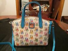 Dooney & Bourke Gretta signature satchel crossbody bag, pastel colors