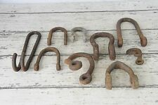 Vintage Antique Lot CLEVIS Wagon Hitch Farm Iron Horse D-Ring Twisted Clevis