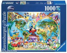 PUZZLE RAVENSBURGER 1000 Piezas Pezzi Pieces MAPAMUNDI WORLD MAP DISNEY 15785