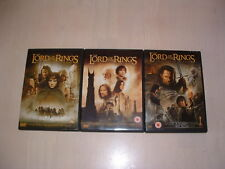LORD OF THE RINGS TRILOGY**DVD DOUBLE DISCS**MINT CONDITION
