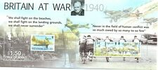 Isle of Man-Britain at War Min sheet -Churchill-Warplanes-Aviation-ships mnh