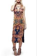 NEW Free People $168 Sin City Midi Stretch Dress Psychedelic Summer Combo Small