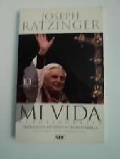 LIBRO JOSEPH RATZINGER - MI VIDA - AUTOBIOGRAFIA - 188 PAGINAS - BENEDICTO XVI