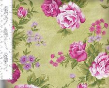 Rose Cottage Y1185-23 Light Olive Clothworks 100% Cotton priced by the 1/2 yard