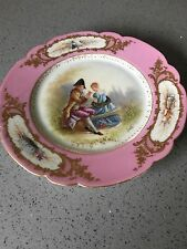 Sevres Porcelain Hand painted Plate. Made In France