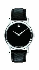 Movado Museum Classic Black 38mm Steel/Leather Men's Watch 2100002