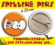 Spilla Spillina Pins 25 mm Collezione Halloween boo!!!  Ragno Paura!!!