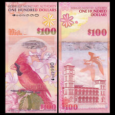 Bermuda 100 Dollars, 2009, P-62a,  First prefix Onion, UNC