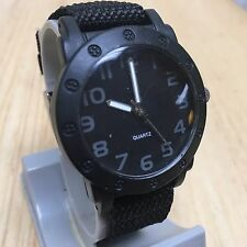 The Children's Place Watch~All Balck Nylon Band Analog Quartz Hours~New Battery