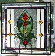 "Stained Glass Window Hanging  21""  square"