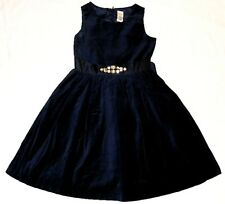 NEW GYMBOREE Holiday Shine Navy Blue Gold Velvet Rhinestone Christmas Dress 4 4T
