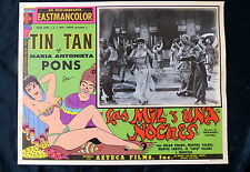 "TIN TAN ""LAS MIL Y UNA NOCHES"" SEXY MARIA ANTONIETA PONS LOBBY CARD PHOTO 1957"