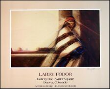"Larry Fodor Hand Signed Poster ""Dineh #2"" Make An Offer! L@@K! Art show Print"