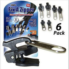 6PC FIX A ZIP ZIPPER SLIDER REPAIR FOR COAT JACKET TROUSER SEWING REPLACEMENT