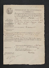 signed 1804 French mortgage document * Schwarz * Marie Anne Barbe Kahr * France