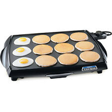 ELECTRIC GRIDDLE Jumbo Nonstick Indoor Cookware Pancake Bacon Stove Top Grill