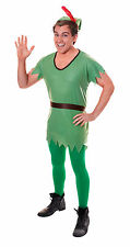 Unisex Peter Pan Fancy Dress Costume Neverland Robin Hood Duende de Navidad Traje