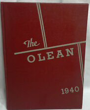 1940 Oley Pa. Consolidated  High School Hard Cover Year Book Call Olean