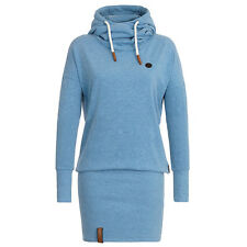 Women's Funnel Neck Hooded Sweatshirt Casual Hoodies Bodycon Tunic Jumper Dress