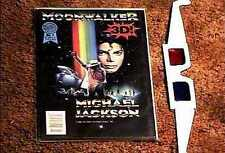 MOONWALKER 3-D #1 COMIC BOOK WITH GLASSES MICHAEL JACKSON RARE