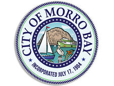 4x4 inch MORRO BAY California City Seal Sticker -decal logo state beach San Luis