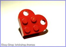 Lego Herz - rot 2-teilig - heart - NEU / NEW