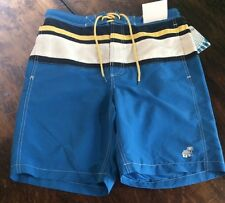 NWT Mens CARRIBEAN JOE Blue Swim Trunk Shorts Size Medium M