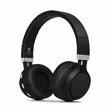 RockPapa Stereo Bluetooth Headphones Wireless Foldable Over Ear Headset Mic Blk